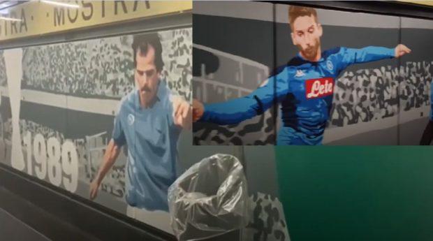 Cumana, i murales con lo sponsor del Napoli: scatta l'interrogazione