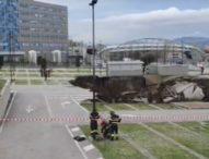 Ospedale del Mare, maxi voragine all'alba: evacuato il Covid Hospice