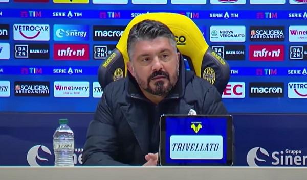 """Il Napoli: """"Confermata la fiducia a Gattuso"""""""