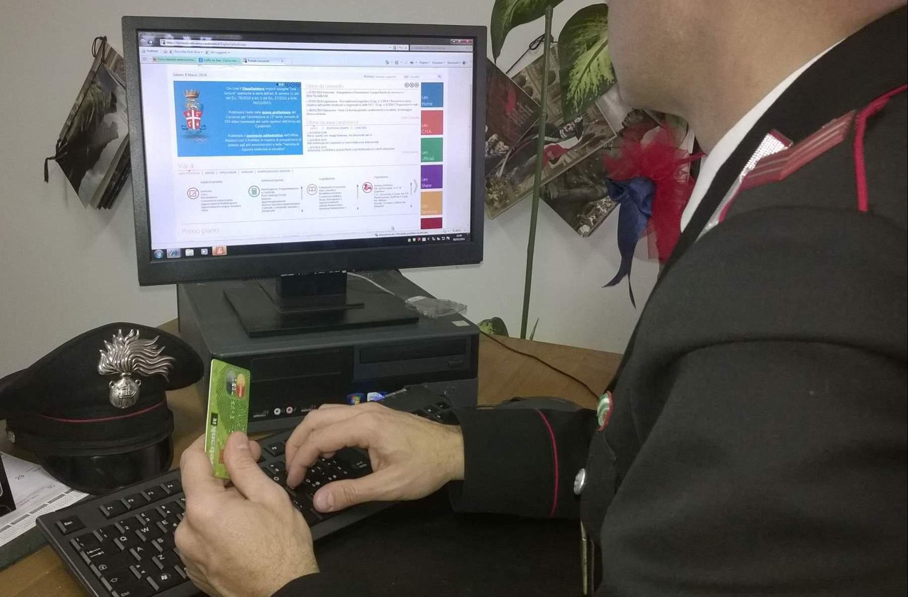 Calabritto, Avellino: I carabinieri smascherano truffatrice Internet