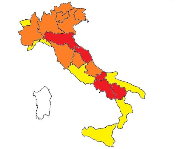 La Campania è rossa anche se il suo Rt scende sotto 1