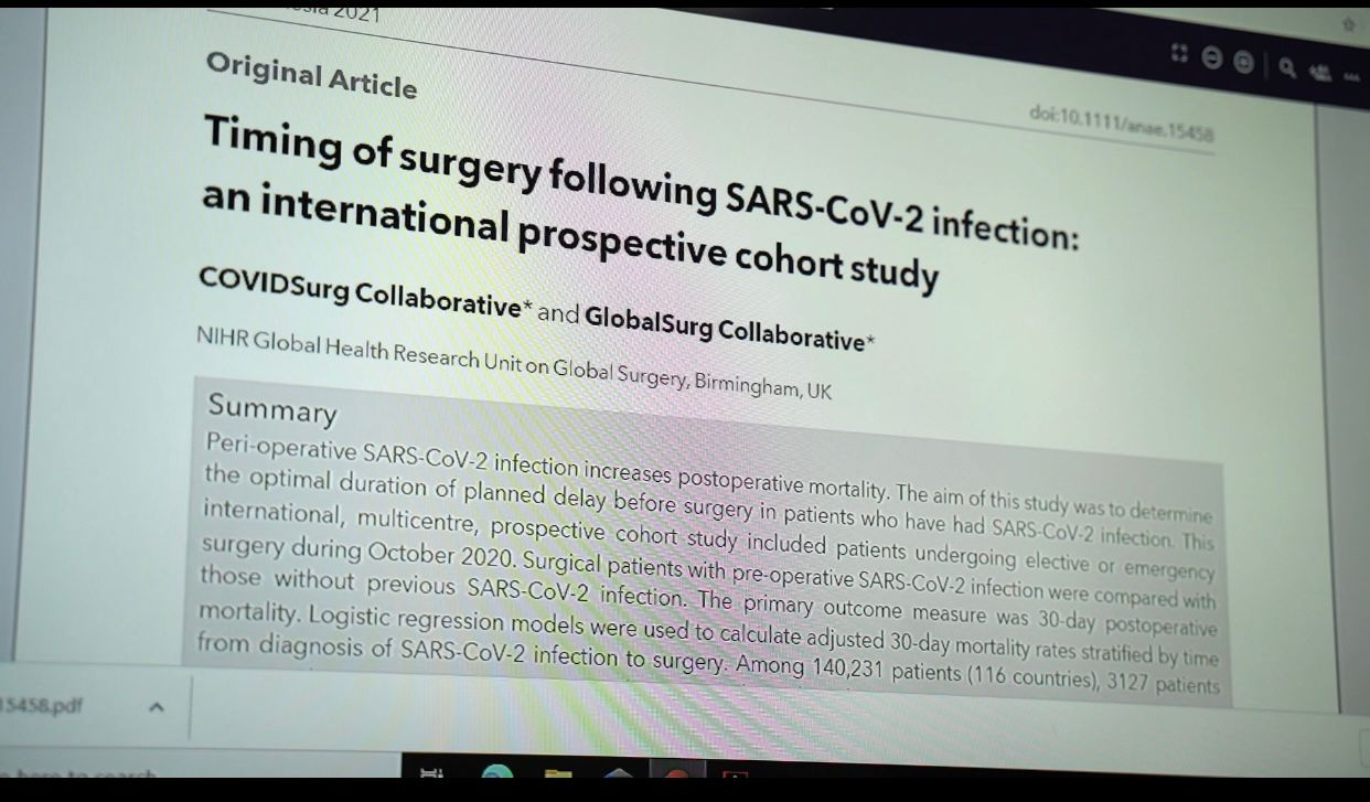 """La ricerca: """"Covid aumenta mortalità post-operatoria, rinviare interventi può salvare la vita"""""""