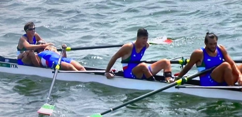 """Olimpiadi, nel canottaggio un bronzo che vale oro dal """"4 senza"""" dei napoletani"""