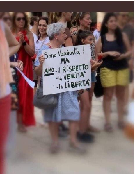 Sabato 31 luglio, Italia in piazza contro il lasciapassare del governo Draghi