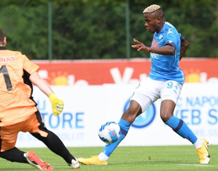 Napoli, 12 gol nel primo test: poker Osimhen