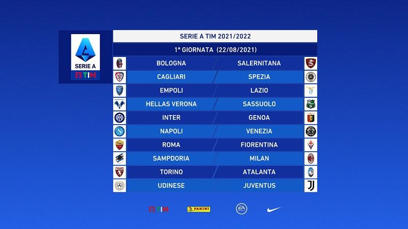 Calendario Serie A: alla prima il Napoli riceve il Venezia, Salernitana a Bologna