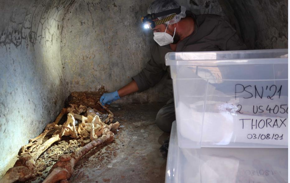 A Pompei una tomba testimonia la presenza del mondo greco