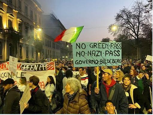 Sabato di lotta e unità contro il Green Pass: 40 manifestazioni, 500 mila partecipanti
