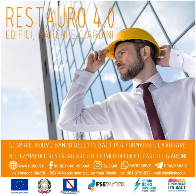 Campania, prorogati i termini per l'iscrizione al Corso Restauro 4.0